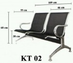 Kursi tunggu Bandara 2 seat KG2
