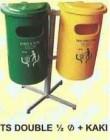 Tempat Sampah Rio TS DOUBLE 1/2 Ø + KAKI