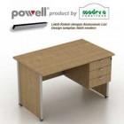 Meja Kantor Modera Powell 1475 plus laci atas