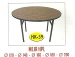 Meja Resto Cafe HPL Tipe HK-59 Dia.180 cm