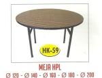 Meja Resto Cafe HPL Tipe HK-59 Dia.100cm / 120cm