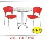 Meja Resto Cafe Kaca Tipe HK-73 Dia. 80 cm