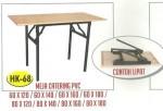 Meja Lipat Resto Cafe Catering PVC Tipe HK-68 80 x 140 cm
