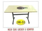 Meja Suki Lacker HK-53 + Kompor 80×180 cm