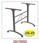 Kaki meja kantin kafe restoran HK-89 Powder untuk daun meja 200x80cm