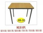 Meja Resto Cafe HPL Tipe HK-50 60×60