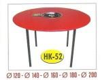 Meja Suki Lacker Bulat HK-52 + Kompor Dia.120 cm