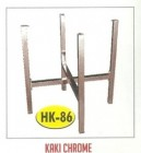 Kaki meja kantin kafe restoran HK-86 Chrome untuk daun meja dia.150cm