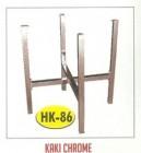 Kaki meja kantin kafe restoran HK-86 Chrome untuk daun meja dia.120cm