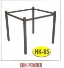 Kaki meja kantin kafe restoran HK-85 Powder untuk daun meja 160x80cm